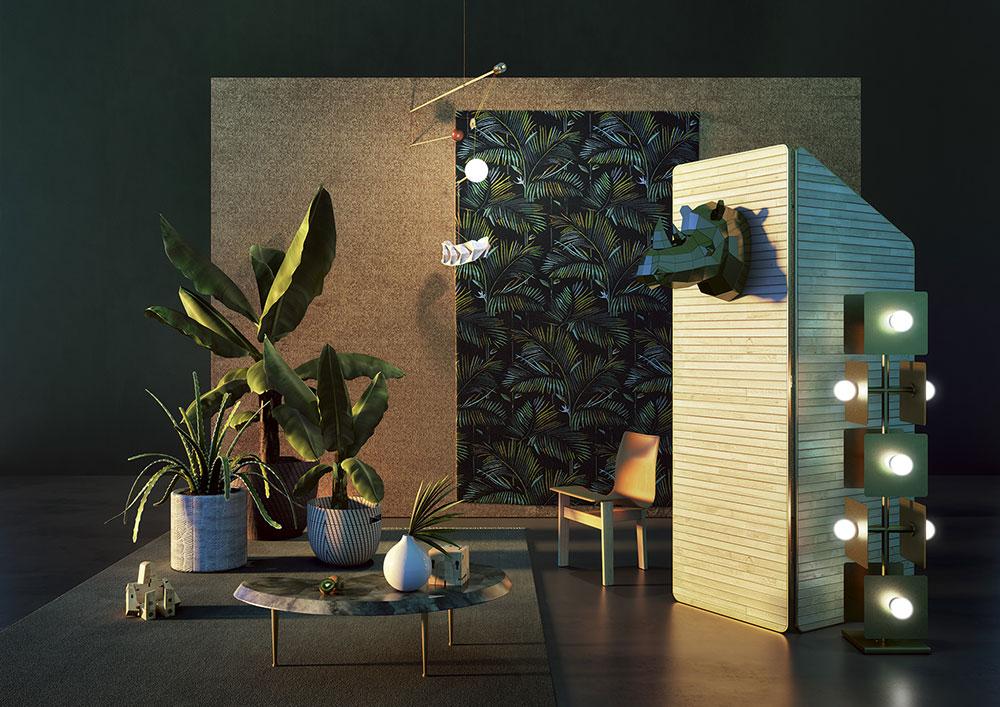 Interior design: trendscapes, un moodboard di sera